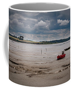 Red Boat On The Mud Coffee Mug