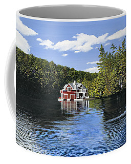 Red Boathouse Coffee Mug by Kenneth M  Kirsch