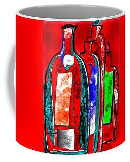Red Bottles Coffee Mug