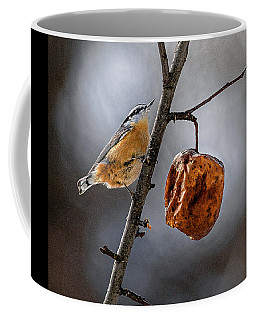 Coffee Mug featuring the photograph Red Breasted Nuthatch by Marty Saccone