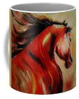 Red Breed Coffee Mug by Khalid Saeed
