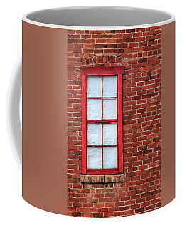 Coffee Mug featuring the photograph Red Brick And Window by James Eddy