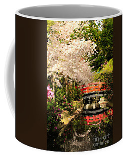 Red Bridge Reflection Coffee Mug