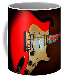 Red Burst Stratocaster Glow Neck Series Coffee Mug