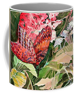 Red Butterfly Coffee Mug by Mindy Newman