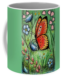 Red Butterfly Coffee Mug
