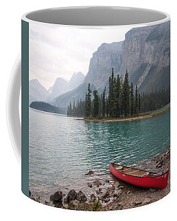Red Canoe Coffee Mug by Catherine Alfidi