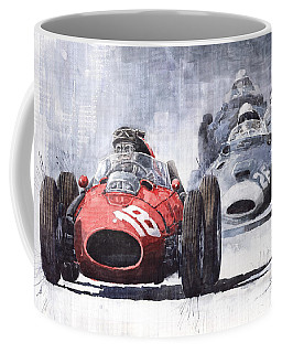 Red Car Ferrari D426 1958 Monza Phill Hill Coffee Mug