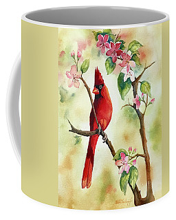 Red Cardinal And Blossoms Coffee Mug