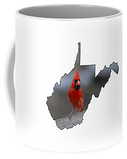 Red Cardinal Looking For Food Coffee Mug
