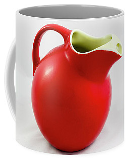 Red Ceramic Pitcher Coffee Mug