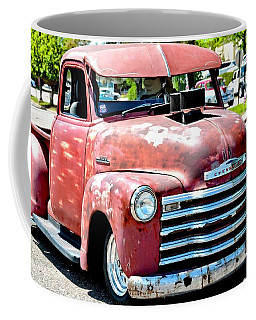 Red Chevy Hot Rod Truck Coffee Mug