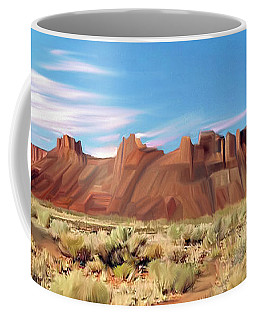 Red Cliff Eagle Coffee Mug by Walter Colvin