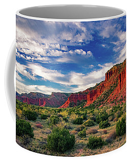 Red Cliffs Of Caprock Canyon 2 Coffee Mug