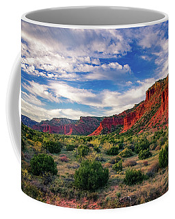 Red Cliffs Of Caprock Canyon Coffee Mug