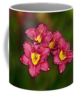 Coffee Mug featuring the photograph Red Columbine Hybrid by John Haldane