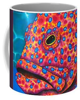Red Coral Grouper Coffee Mug