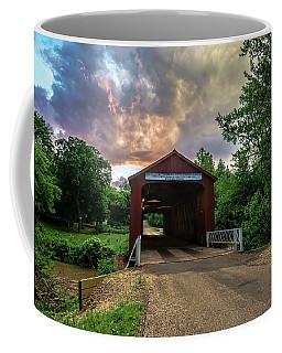 Red Covers Bridge With Pretty Sky  Coffee Mug