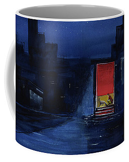 Red Curtain Coffee Mug