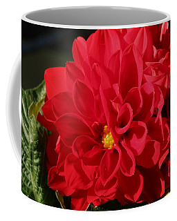 Coffee Mug featuring the photograph Red Dahlia Macro by Sheila Brown