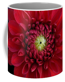 Coffee Mug featuring the photograph Red Dahlia Square by Patricia Strand