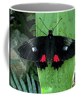 Red Design On Wings Coffee Mug