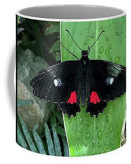Red Design On Wings Coffee Mug