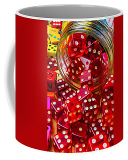 Red Dice Spilling Out Coffee Mug