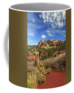 Coffee Mug featuring the photograph Red Dirt And Cactus In Sedona by James Eddy