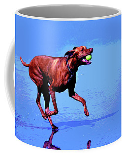 Coffee Mug featuring the photograph Red Dog Running by Howard Bagley