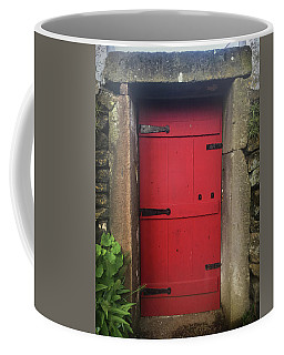 Red Door At The Wine Museum Of Biscoitos Coffee Mug
