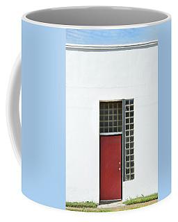 Red Door Blue Sky Green Grass Coffee Mug