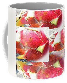Red Dragon Fruit Collage Coffee Mug