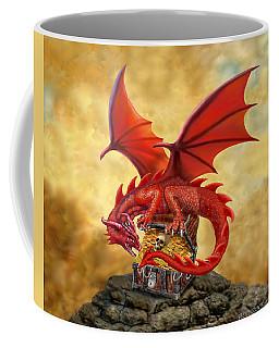 Red Dragon's Treasure Chest Coffee Mug