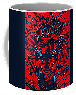 Coffee Mug featuring the painting Red Exotica by Natalie Holland