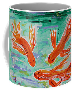 Red Eye Koi Coffee Mug by Mary Carol Williams