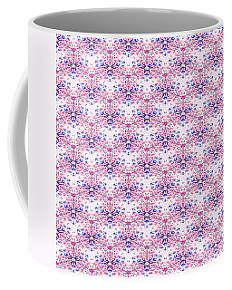 Red Fabric Pattern Coffee Mug