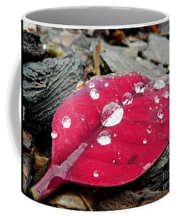 Red Fall Leaf Coffee Mug