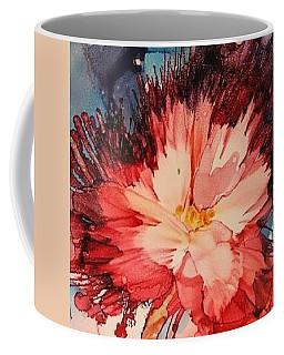 Red Feathery Flower Coffee Mug