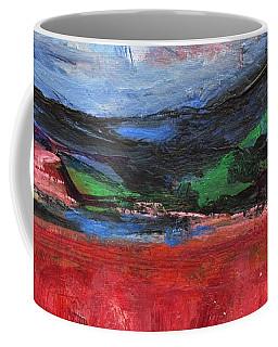 Red Field Landscape Coffee Mug