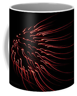 Coffee Mug featuring the photograph Red Firework  by Chris Berry