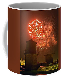 Red Fireworks Coffee Mug