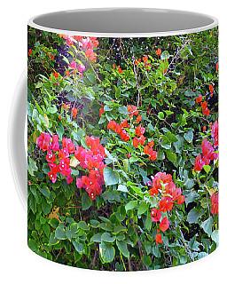 Red Flower Hedge Coffee Mug