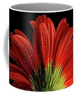 Red Flower Macro Coffee Mug