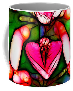 Coffee Mug featuring the photograph Red Flower Up Close by Mariola Bitner