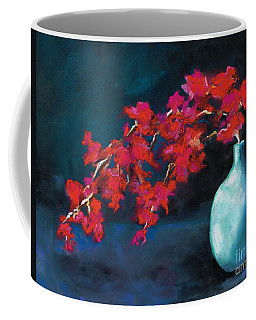Coffee Mug featuring the painting Red Flowers by Frances Marino