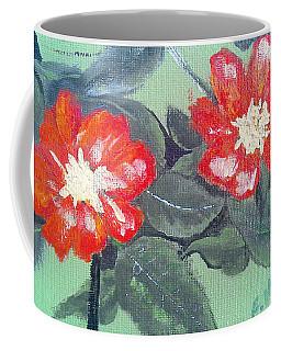 Red Flowers Coffee Mug by Francine Heykoop