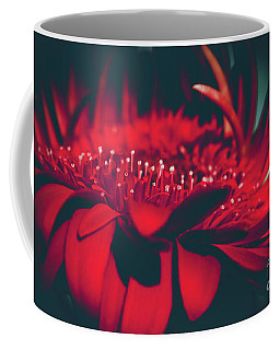 Coffee Mug featuring the photograph Red Flowers Parametric by Sharon Mau