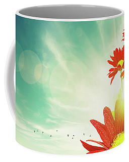 Coffee Mug featuring the photograph Red Flowers Spring by Carlos Caetano