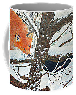 Red Fox And Cardinal Coffee Mug